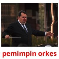 pemimpin orkes picture flashcards