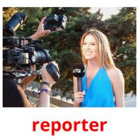 reporter picture flashcards