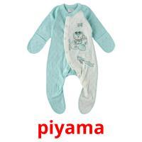 piyama picture flashcards