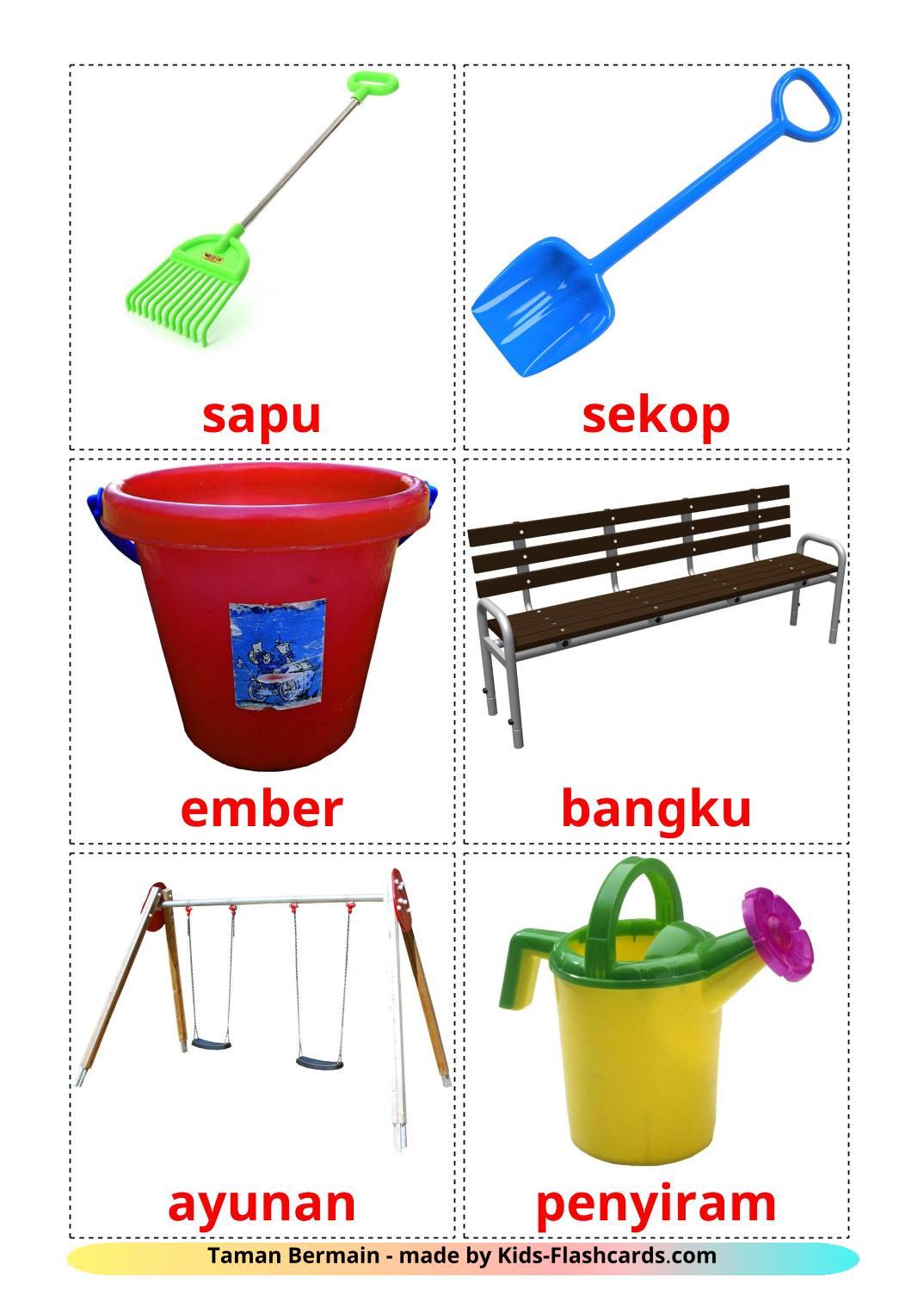 Playground - 13 Free Printable indonesian Flashcards