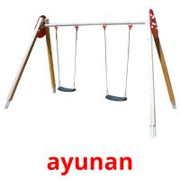 ayunan picture flashcards
