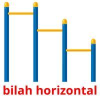 bilah horizontal picture flashcards