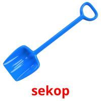 sekop picture flashcards