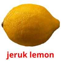 jeruk lemon picture flashcards