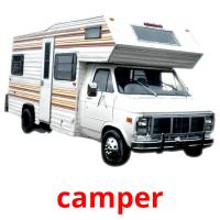camper picture flashcards