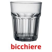 bicchiere picture flashcards