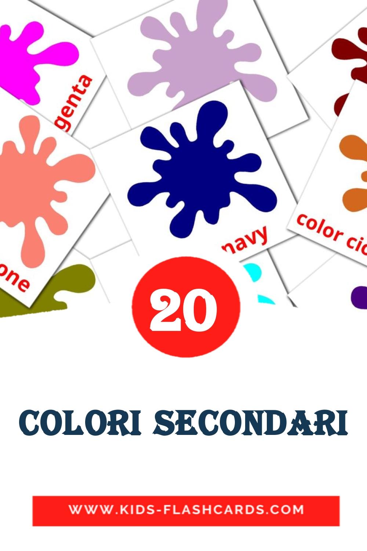20 Colori secondari Picture Cards for Kindergarden in italian