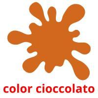 color cioccolato picture flashcards