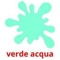 verde acqua picture flashcards