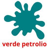 verde petrolio picture flashcards