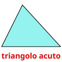 triangolo acuto picture flashcards