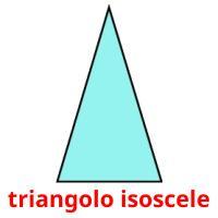 triangolo isoscele picture flashcards