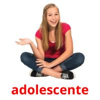 adolescente picture flashcards