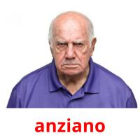 anziano picture flashcards
