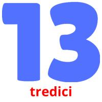 tredici picture flashcards