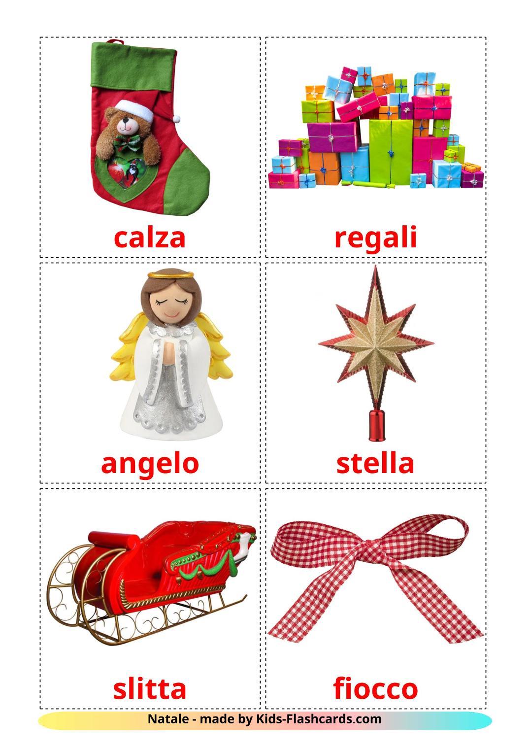 Christmas - 28 Free Printable italian Flashcards
