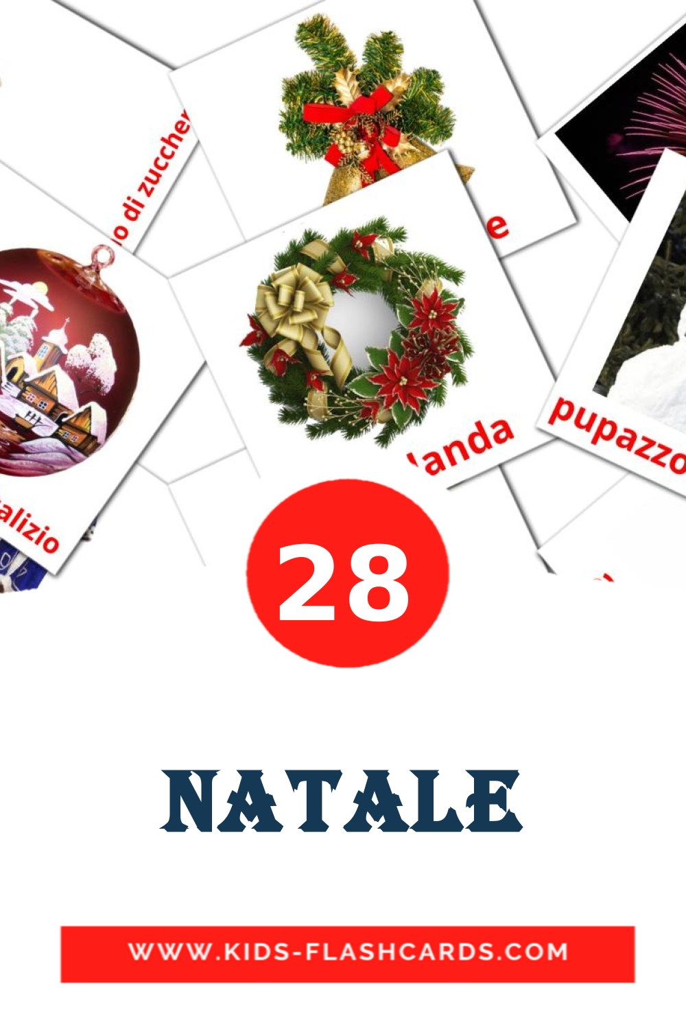 28 Natale Picture Cards for Kindergarden in italian