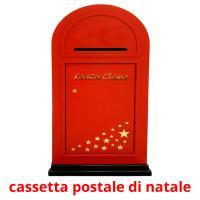 cassetta postale di natale picture flashcards