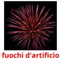 fuochi d'artificio picture flashcards