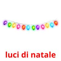 luci di natale picture flashcards