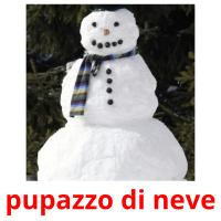 pupazzo di neve picture flashcards