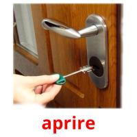 aprire picture flashcards