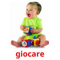 giocare picture flashcards