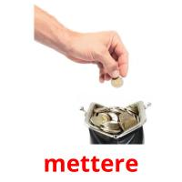 mettere picture flashcards