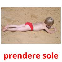 prendere sole picture flashcards
