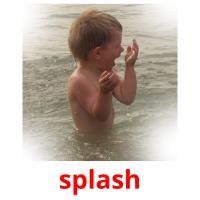 splash picture flashcards