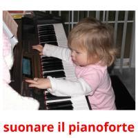suonare il pianoforte picture flashcards