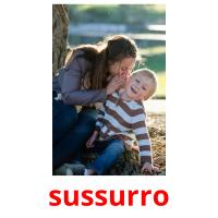 sussurro picture flashcards