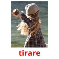 tirare picture flashcards