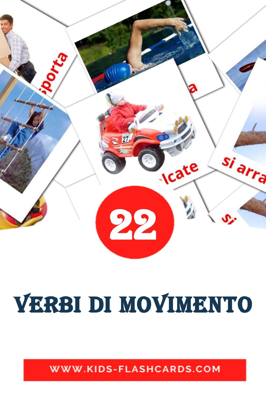 22 Verbi di movimento Picture Cards for Kindergarden in italian