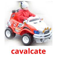 cavalcate picture flashcards