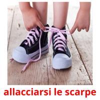 allacciarsi le scarpe picture flashcards