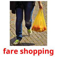 fare shopping picture flashcards