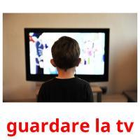 guardare la tv picture flashcards