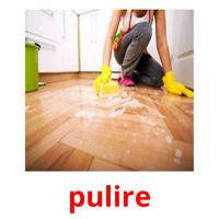 pulire picture flashcards
