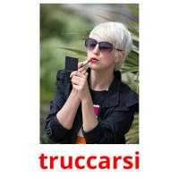 truccarsi picture flashcards