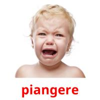piangere picture flashcards