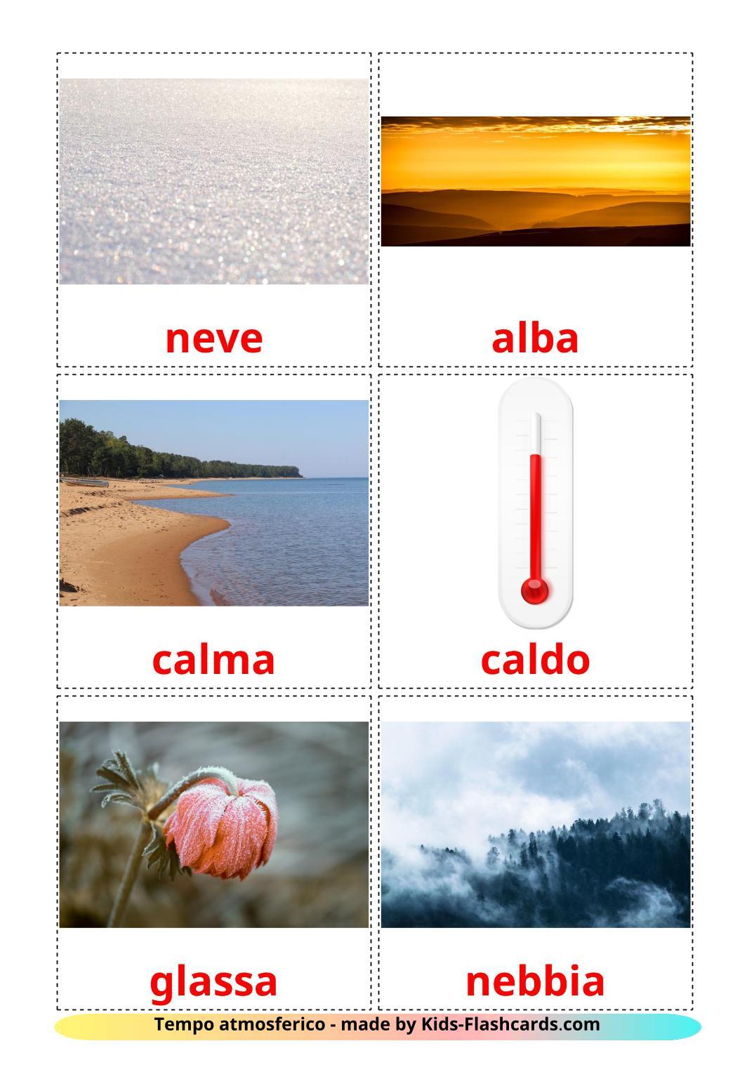 Weather - 31 Free Printable italian Flashcards