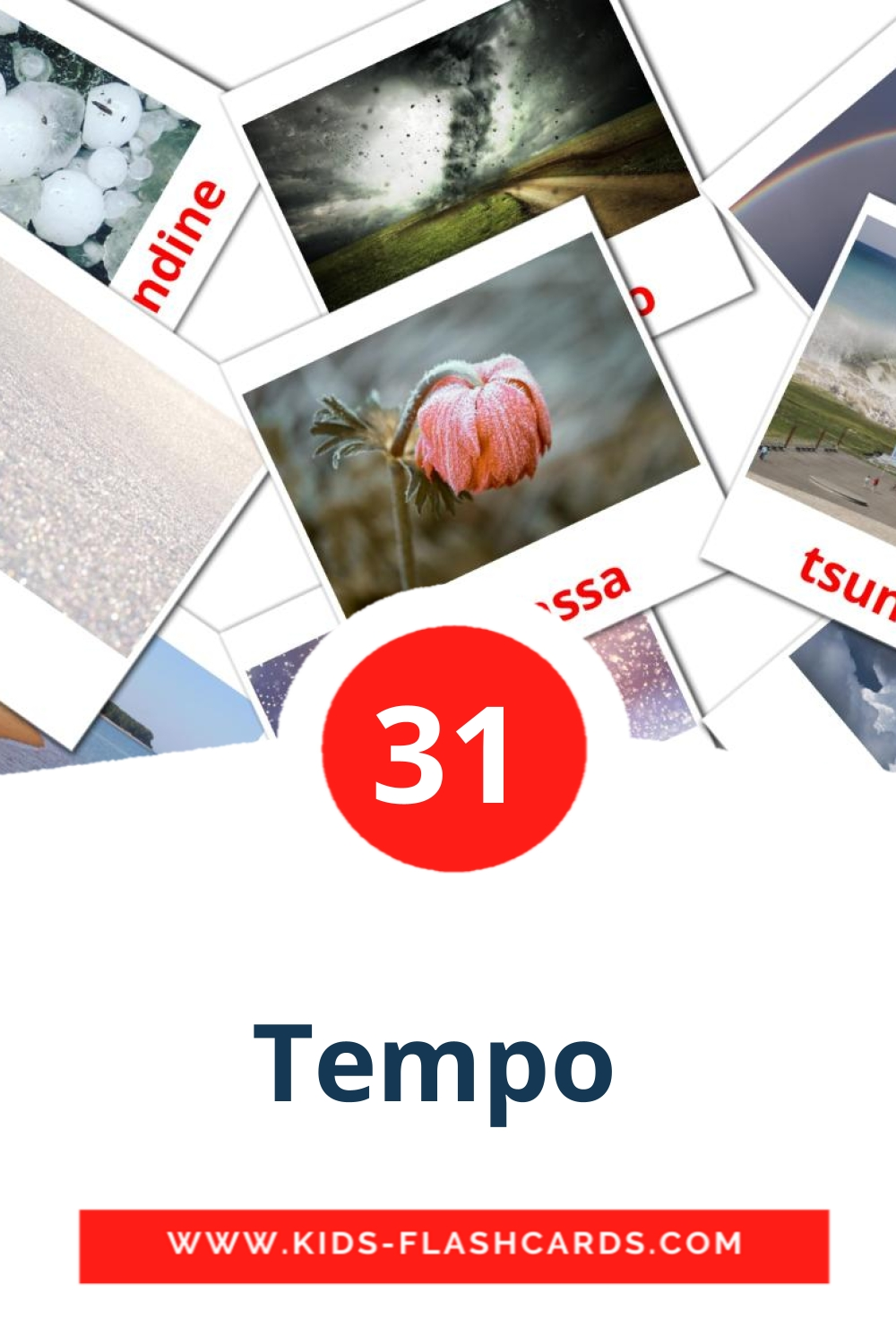 31 Tempo  Picture Cards for Kindergarden in italian