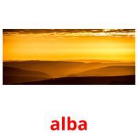 alba picture flashcards