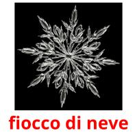 fiocco di neve picture flashcards