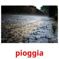 pioggia picture flashcards