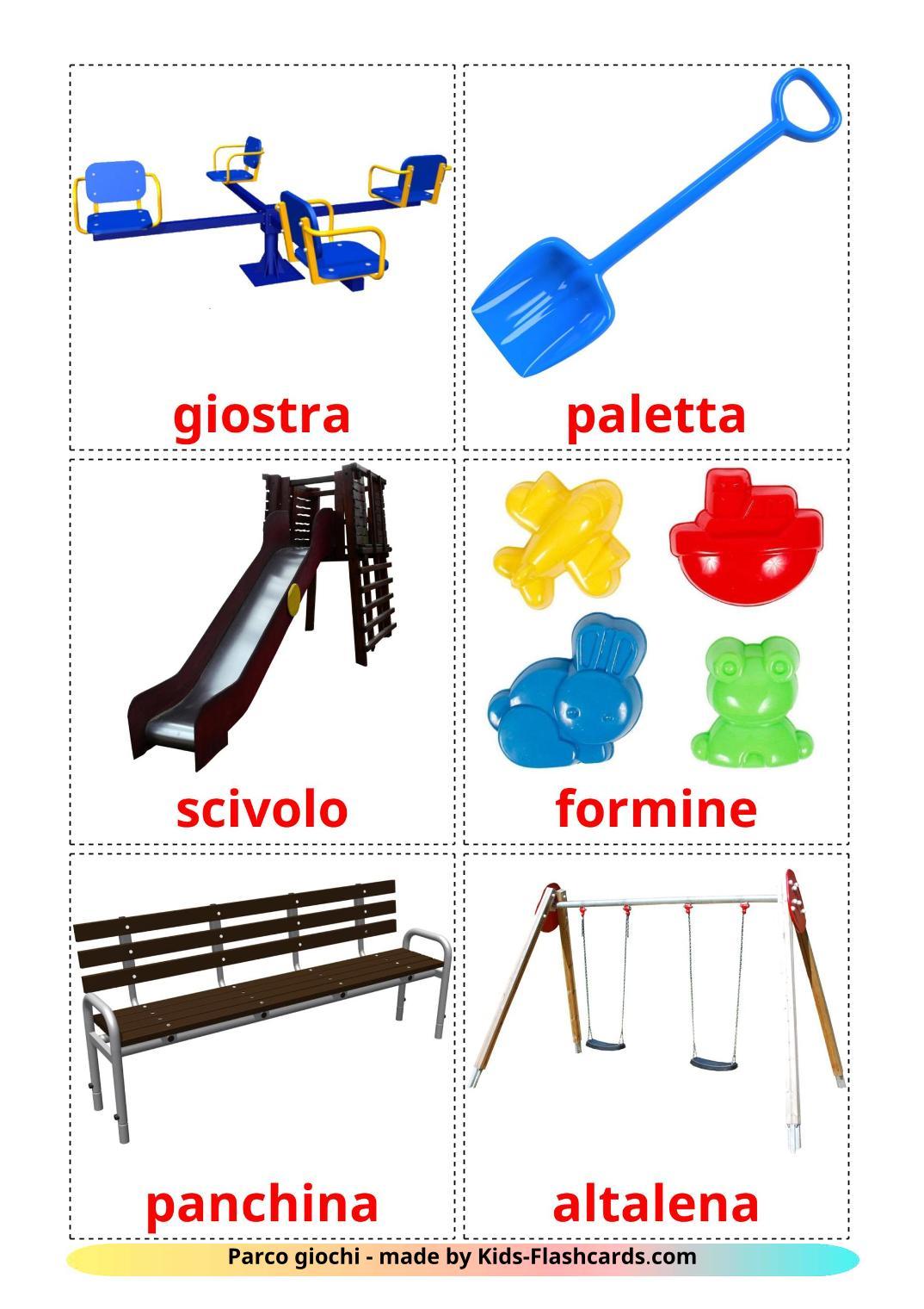 Playground - 13 Free Printable italian Flashcards