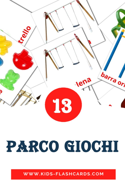 13 Scivolo Picture Cards for Kindergarden in italian