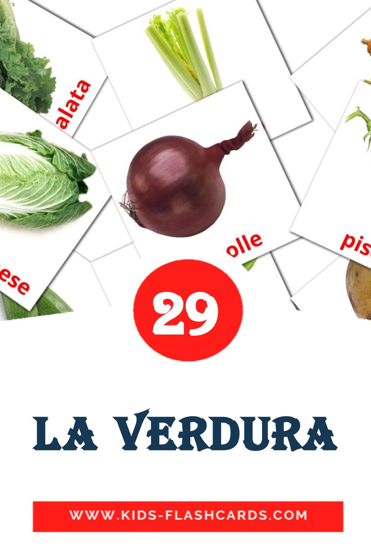 29 Verdure Picture Cards for Kindergarden in italian