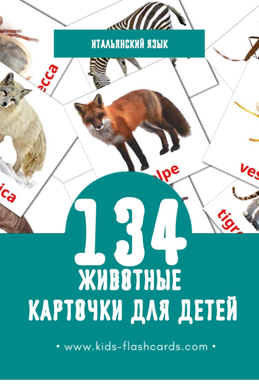 """""""Animali"""" - Визуальный Итальянском Словарь для Малышей (120 картинок)"""